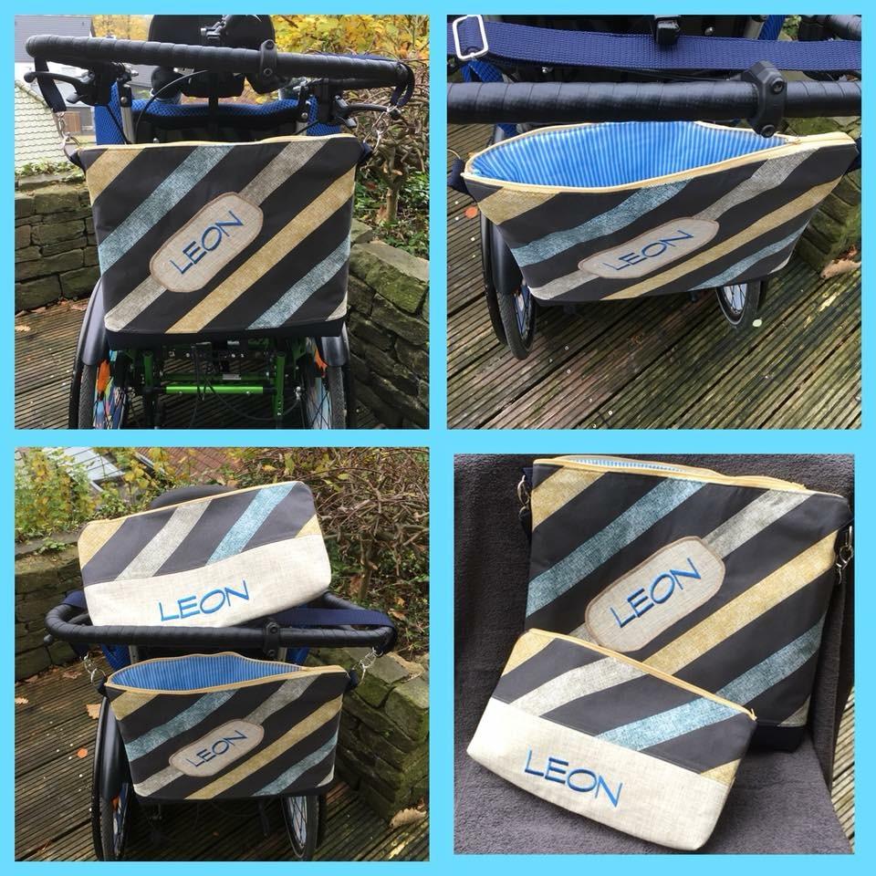 Rollstuhltaschen 35 x 42 cm inkl. Namen Image